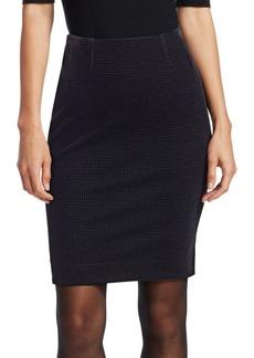 Akris Punto Velvet Houndstooth Pencil Skirt