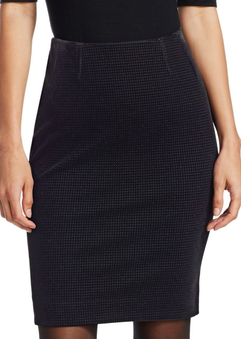 Akris Punto Velvet Pencil Skirt