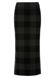 Akris Punto Virgin Wool Checkerboard Midi Skirt