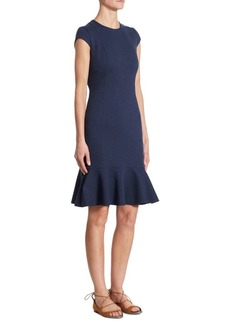 Akris Volant Hem Dress