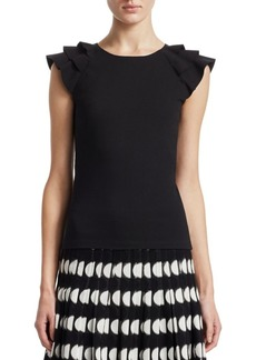Akris Punto Wave Shoulder Fitted Top