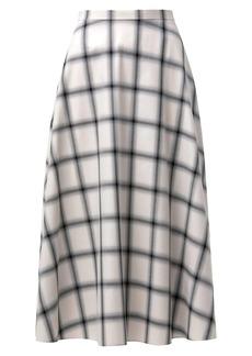 Akris Punto WIndowpane Check Midi A-Line Skirt