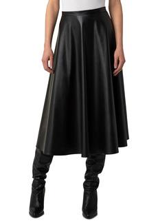 Women's Akris Punto Faux Leather Midi Skirt