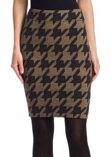 Akris Punto XL Houndstooth Jacquard Skirt
