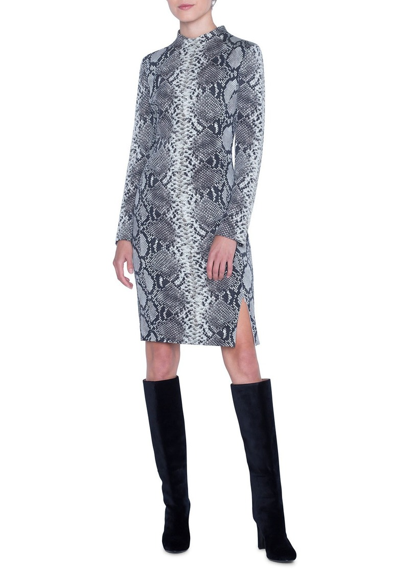 Akris Python Knee Length Dress