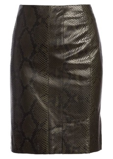 Akris Python Leather Pencil Skirt