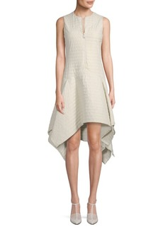 Akris Quilted Asymmetrical Dress