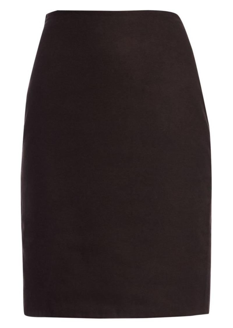 Akris Reversible Double-Face Silk Pencil Skirt