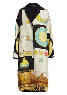 Akris Reversible Elanna Panopaly Wool & Silk Coat