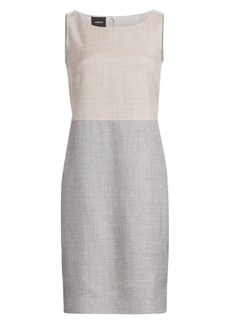 Akris Reversible Wool & Silk Sheath Dress