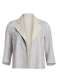 Akris Reversible Wool & Silk Short Jacket