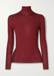 Akris Ribbed Cashmere And Silk-blend Turtleneck Sweater