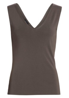 Akris Ribbed V-Neck Knit Tank Top