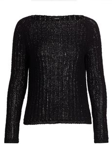 Akris Ribbon Knit Boatneck Sweater