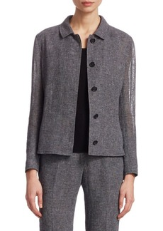 Akris Saburo Linen Crepe Jacket