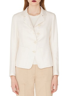 Akris Samir Button-Front Silk-Cashmere Short Jacket