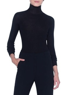 Akris Seamless Ribbed Turtleneck Sweater