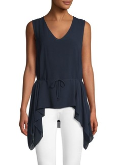 Akris Self-Tie Silk Tunic
