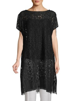 Akris Semi-Sheer Blouse