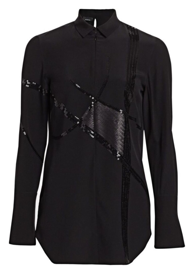 Akris Sequin Silk Crepe Tunic