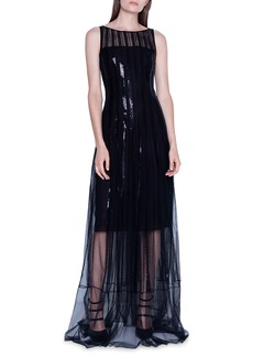 Akris Sequined Gown with Sheer Skirt