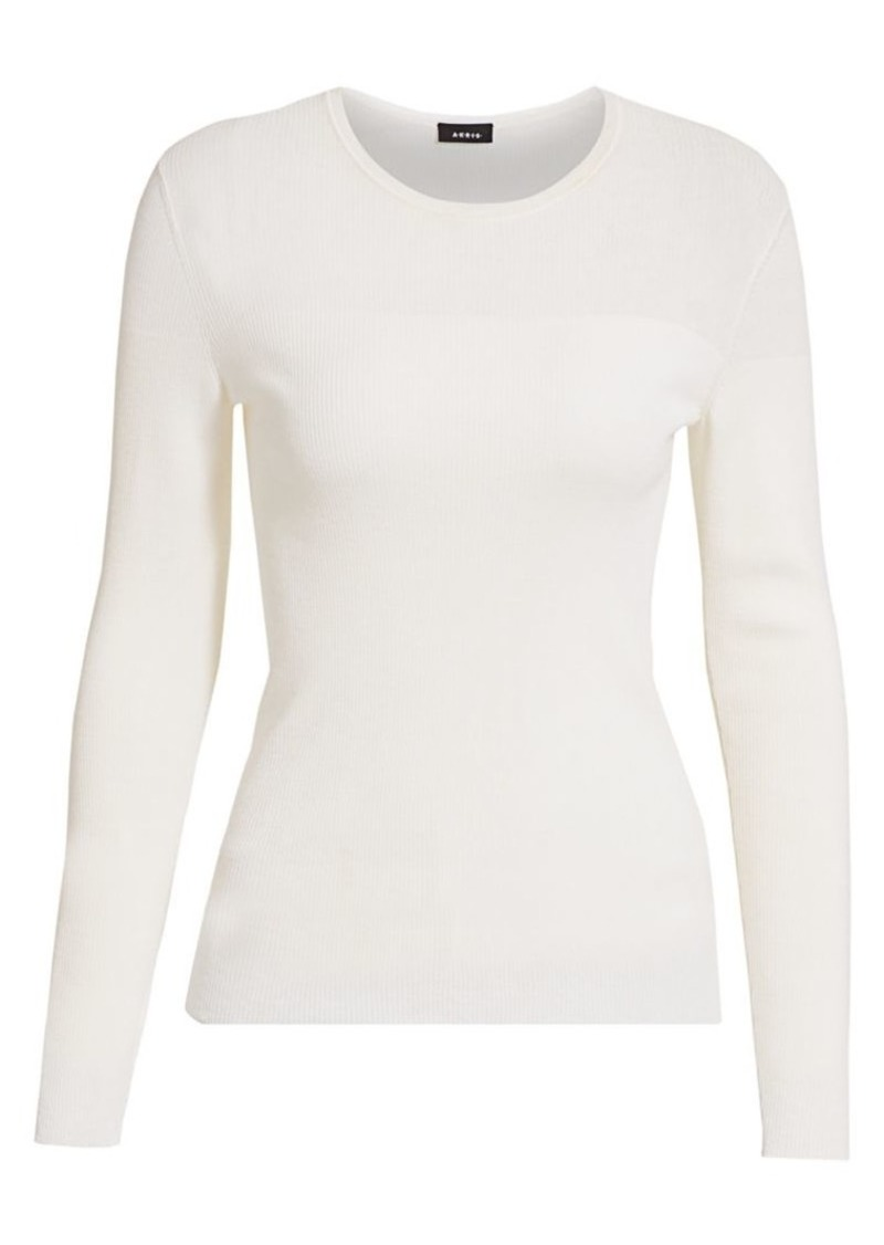 Akris Sheer Fine Ribbed Top
