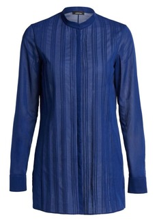 Akris Sheer Pintuck Blouse