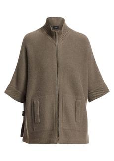 Akris Short-Sleeve Kimono Cashmere Cardigan