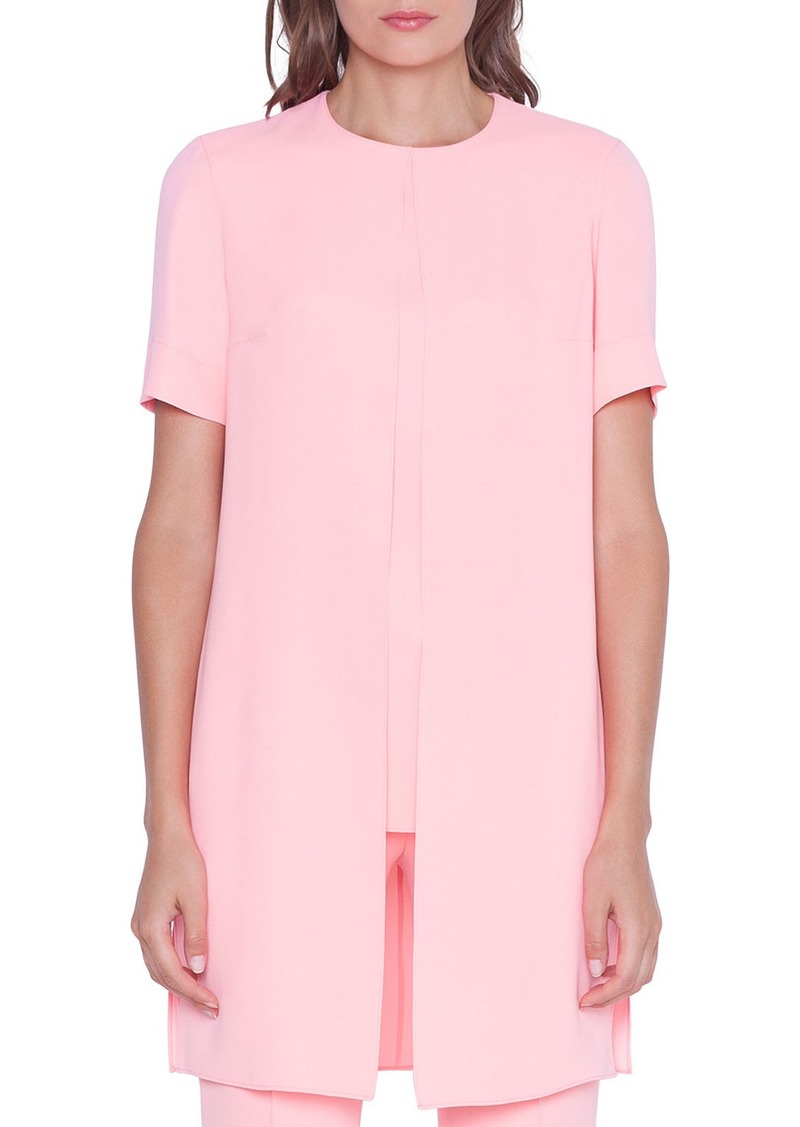 Akris Short-Sleeve Overlay Tunic