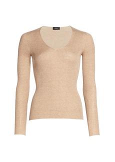 Akris Silk & Cotton V-Neck Sweater