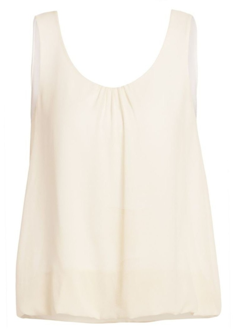 Akris Silk Blouson Shell Top