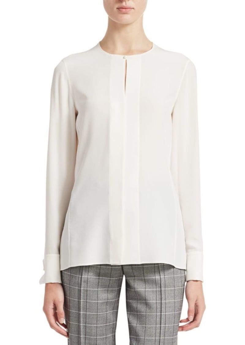 Akris Silk Crepe Blouse
