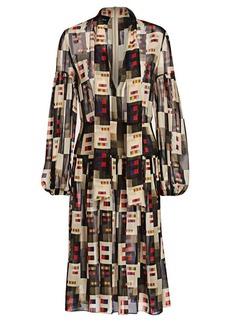 Akris Silk Crepe Colorama Dress