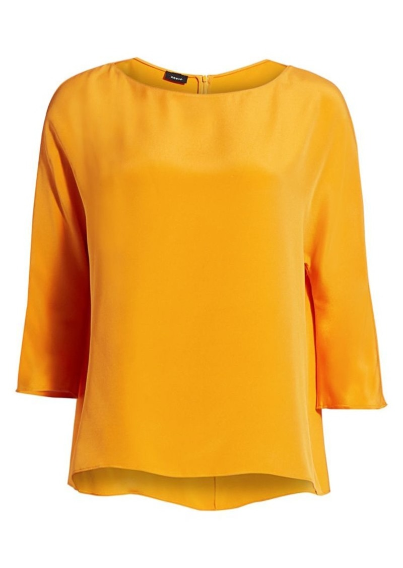 Akris Silk Crepe Tunic Blouse