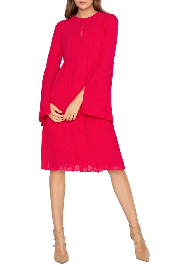 Akris Silk Long-Sleeve Pleated Dress