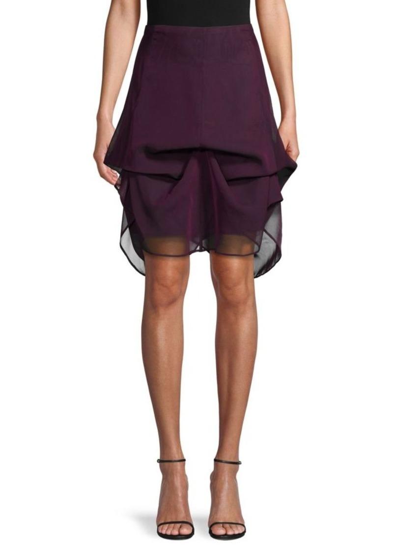 Akris Silk Mini Skirt
