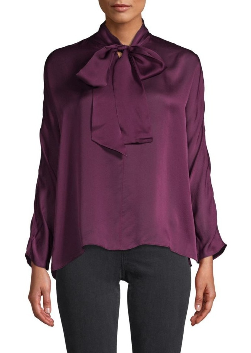 Akris Silk Tieneck Blouse