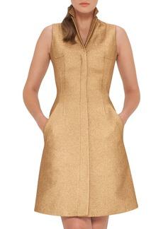 Akris Sleeveless Coat Dress w/Back A-Cutout