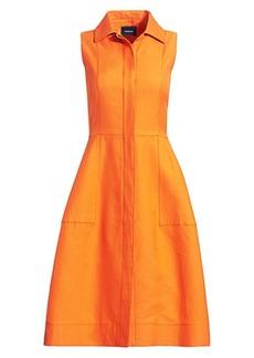 Akris Sleeveless Cotton & Silk Shirtdress