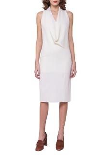 Akris Sleeveless Drape-Front Dress