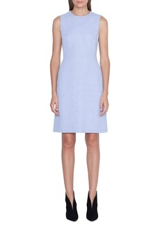 Akris Sleeveless Linen-Wool Sheath Dress