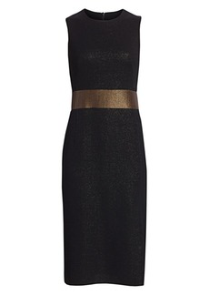 Akris Sleeveless Lurex Sheath Dress