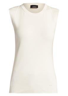 Akris Sleeveless Stretch Silk Tank Top