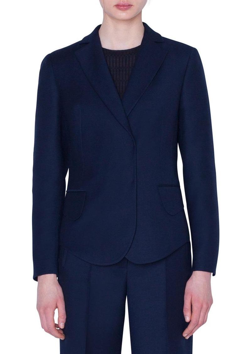 Akris Snap-Front Wool Jacket