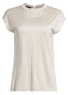 Akris Solid Silk Jersey Tee