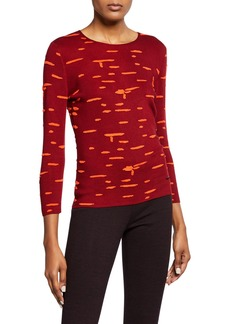 Akris Splotchy Silk Pullover Top