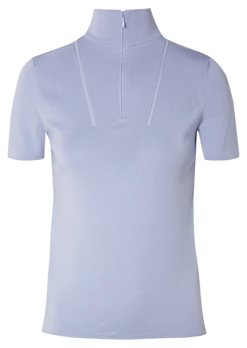 Akris Stretch-mulberry Silk Top