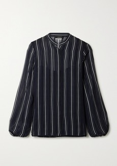 Akris Striped Silk-georgette Shirt