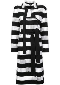 Akris striped trench coat