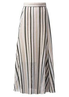 Akris Striped Wool Maxi-Skirt